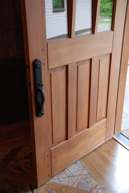 16. Studio Entry Doors with Arched Glass (Pair of ESL05-U) in Gig Harbor, WA