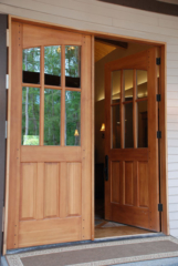 7. Studio Entry Doors with Arched Glass (Pair of ESL05-U) in Gig Harbor, WA