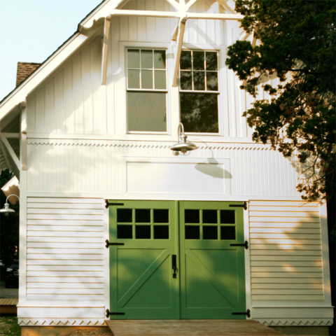 80. Classic Z Brace Carriage Doors (CL05) on Historic Renovation in Northport, NY