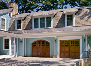 68. Craftsman Trad. Arched Bi-Folding Doors (CTL04H2) and Outswing Carriage Doors (CTL06WH2) in McLean, VA