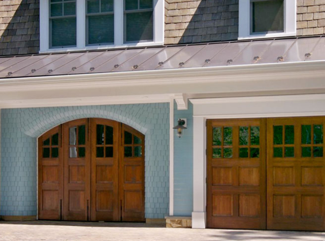 75. Craftsman Trad. Arched Bi-Folding Doors (CTL04H2) and Outswing Carriage Doors (CTL06WH2) in McLean, VA