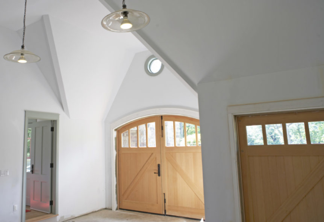 41. Gothic Revival Arched Carriage Doors in Tenafly, New Jersey