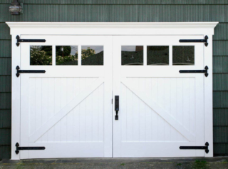 35. Classic Z Brace Carriage Doors on a Music Room (CTL05) in Bellingham, WA
