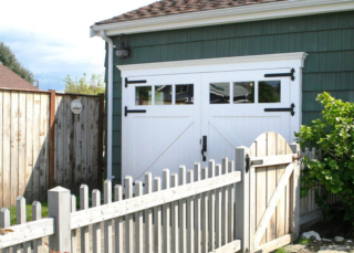36. Classic Z Brace Carriage Doors on a Music Room (CTL05) in Bellingham, WA