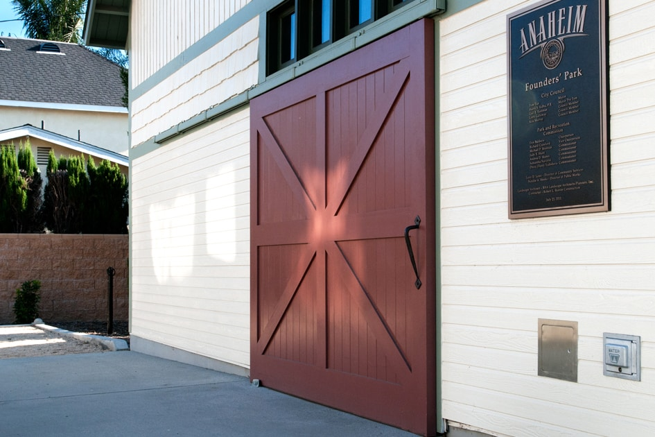 5. Sliding Barn Door on Founders Park Carriage House (CL15B) in Anaheim, CA