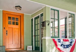 9. Craftsman Style Entry Door and Solid Wood Gate in San Jose, CA