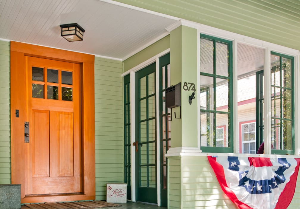 11. Craftsman Style Entry Door and Solid Wood Gate in San Jose, CA