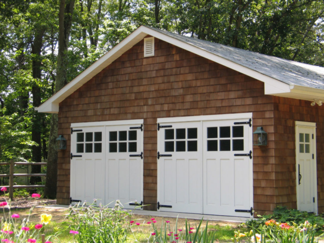 Craftsman Traditional Carriage Doors (CTL05) and Entry (ECTL04) in Toms River, New Jersey (NJ)