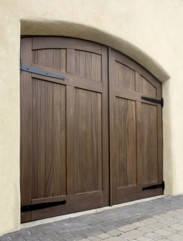 36. Arched Carriage Doors (CL15HV2-A, Mahogany) in Kansas City, Missouri (MO)