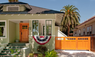 31. Craftsman Style Entry Door and Solid Wood Gate in San Jose, CA