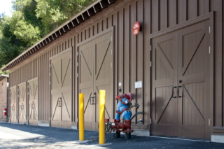 21. Classic Carriage Doors (CL15B) on a Maintenance Building at Pinnacles National Monument in California