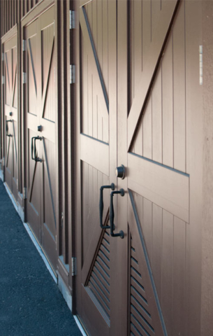 22. Classic Carriage Doors (CL15B) on a Maintenance Building at Pinnacles National Monument in California