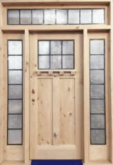 28. Gorgeous Rustic Alder Entry Door with a Transom and Side Lites