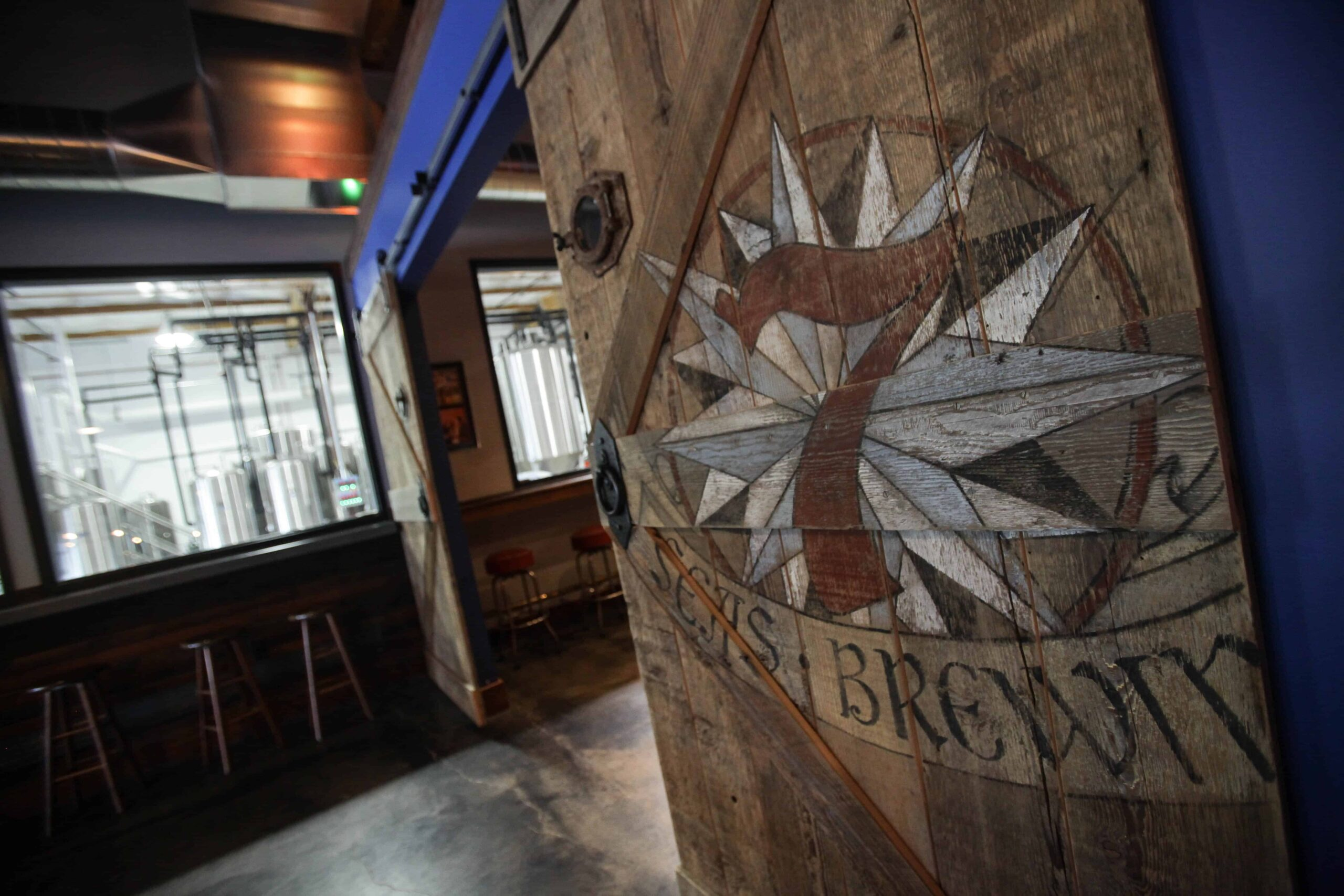3. Sliding Barn Doors in the 7 Seas Brewing Taproom in Gig Harbor, WA