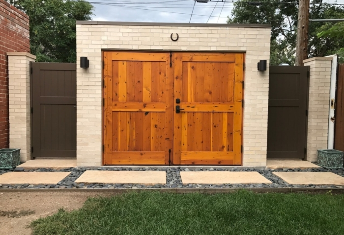 132. CL15N design – full panel tongue and groove in Reclaimed Douglas Fir; Denver, CO