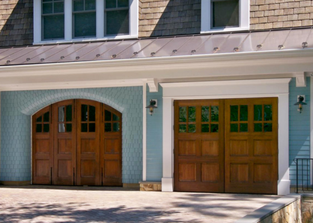 69. Craftsman Trad. Arched Bi-Folding Doors (CTL04H2) and Outswing Carriage Doors (CTL06WH2) in McLean, VA