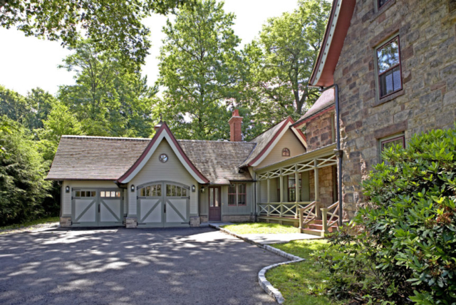 40. Gothic Revival Arched Carriage Doors in Tenafly, New Jersey