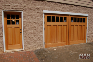 """49. Outswing Carriage Doors (CTLCU) Featured on """"Man Caves"""". Charlotte, NC"""