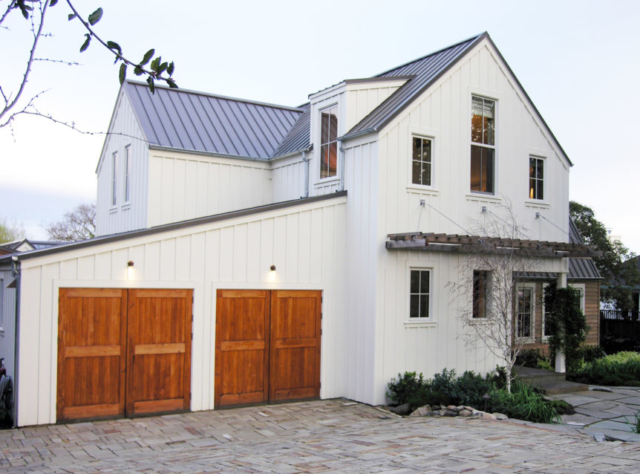 39. Sonoma Farmhouse with Carriage Doors, Entry Door, and Sliding Barn Doors in Sonoma, CA