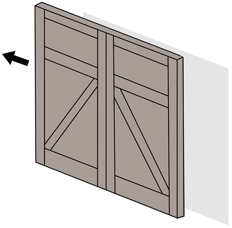 Sliding doors real carriage door and sliding hardware for Sliding carriage doors