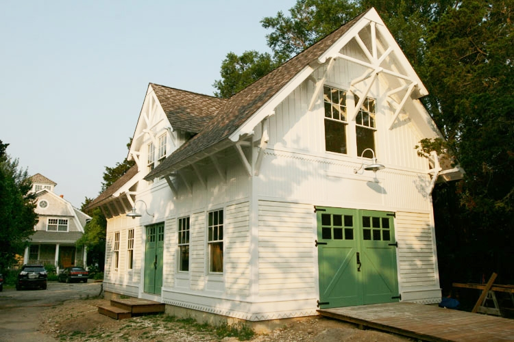 70. Classic Z Brace Carriage Doors (CL05) on Historic Renovation in Northport, NY
