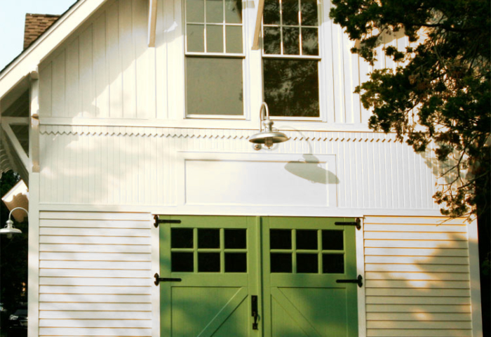 71. Classic Z Brace Carriage Doors (CL05) on Historic Renovation in Northport, NY