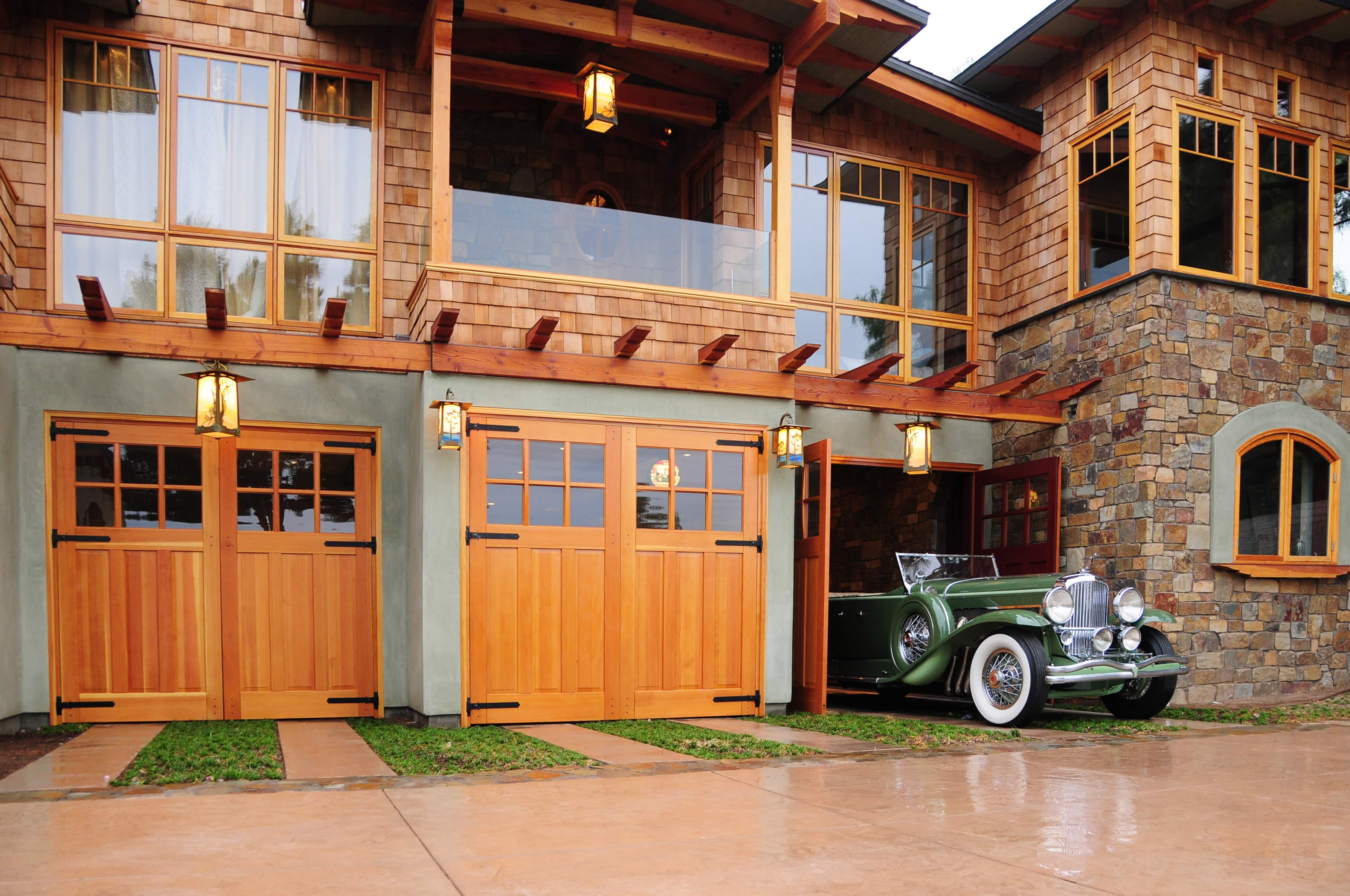 106. Craftsman Traditional Carriage Doors (CTL05) Provide the Perfect Exit for a Classic Car