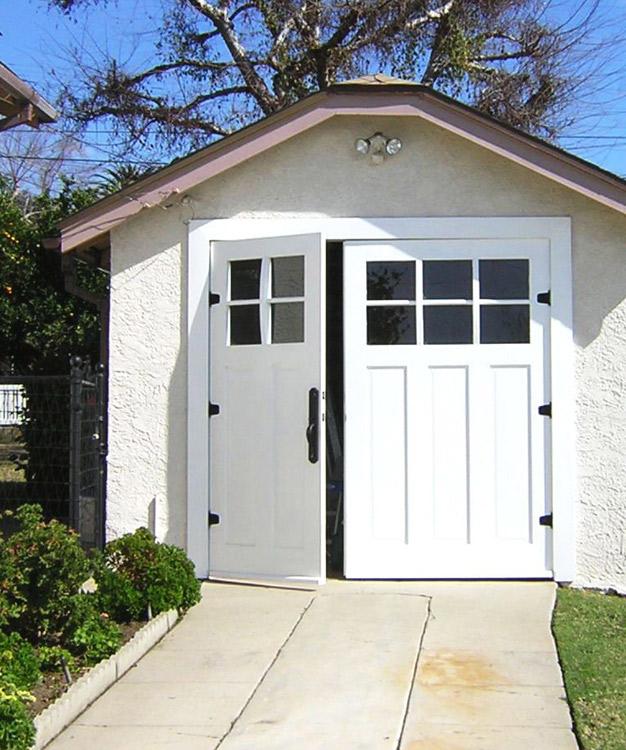Offset garage doors
