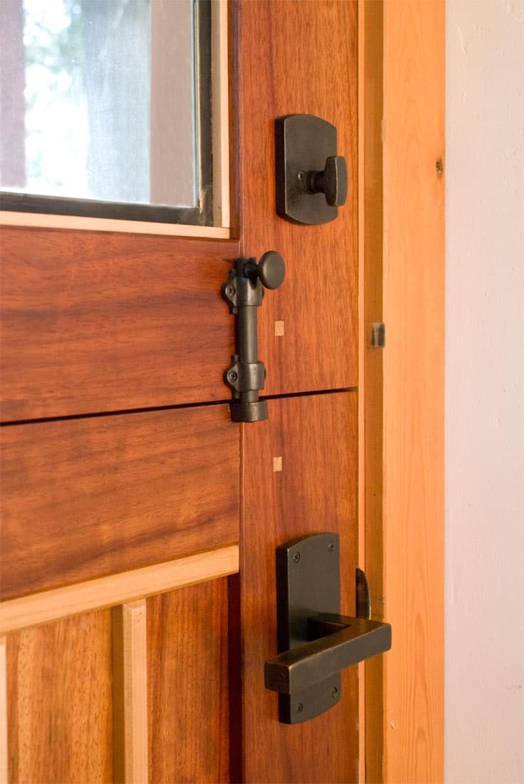 31. Closeup of Dutch Door and Hardware
