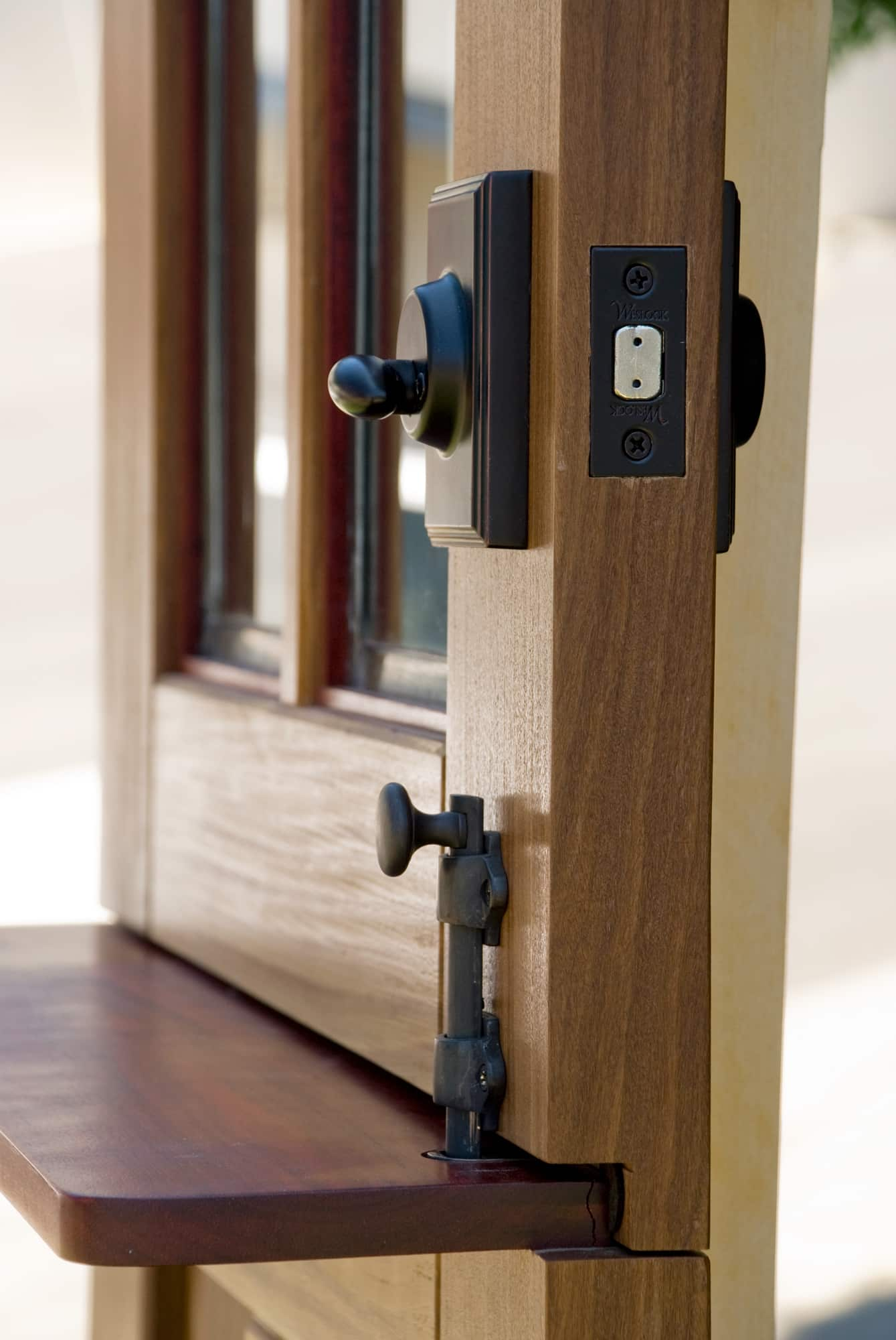 34. Closeup of Dutch Door and Hardware