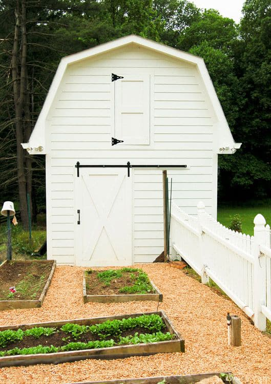 6. X Brace Sliding Door for a Garden Shed