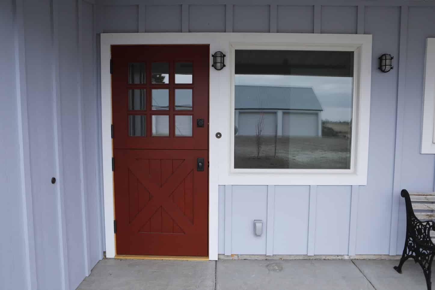 38. Custom Design - X-Brace with 3x3 lites - Dutch Entry Door; Rupert, ID