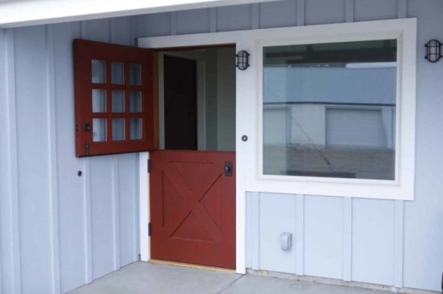 39. Custom Design - X-Brace with 3x3 lites - Dutch Entry Door; Rupert, ID