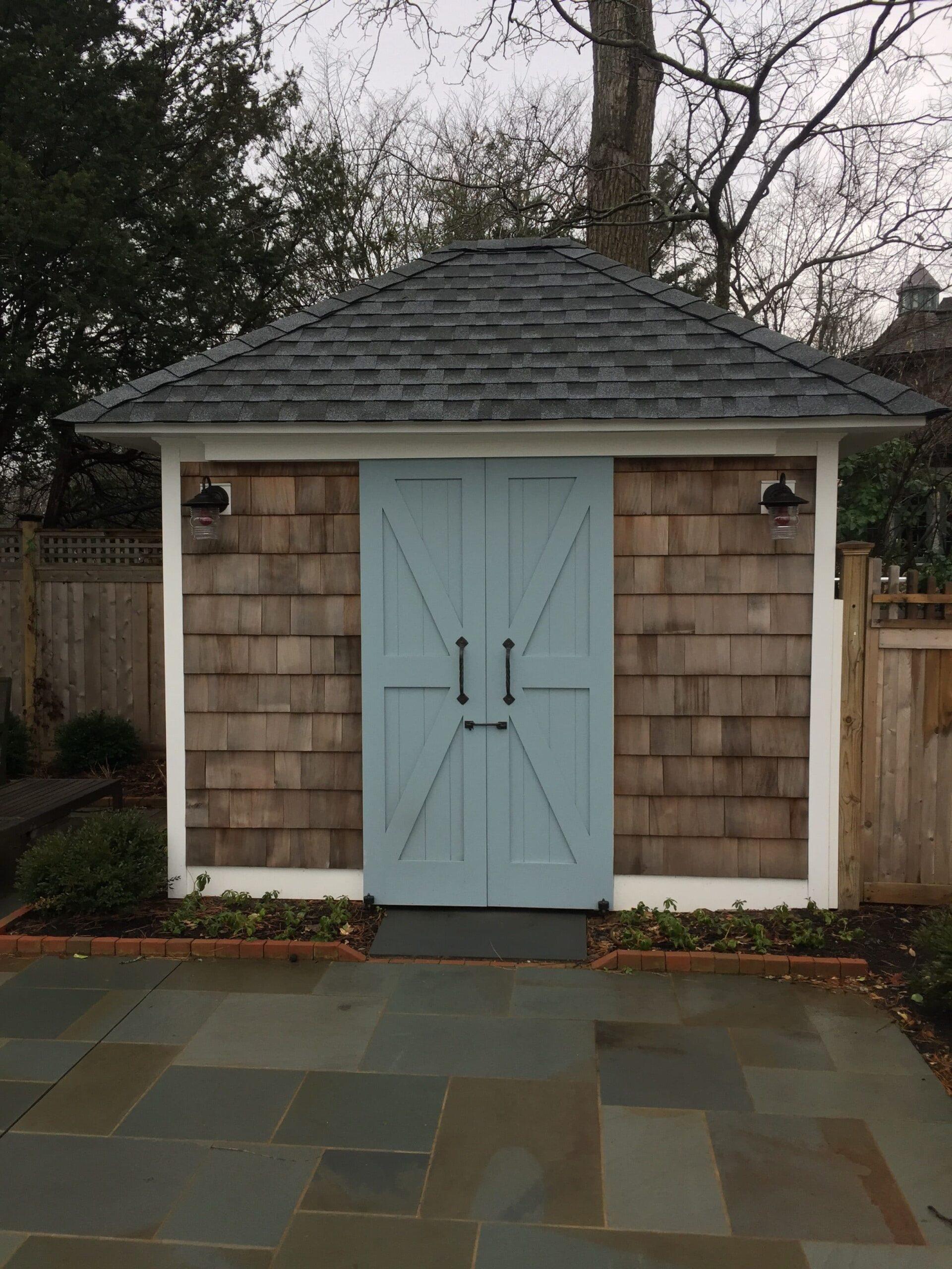 15. CL15B design – Bi-parting sliding doors at pool sheds; Fair Haven, NJ