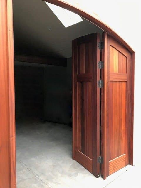 5. CL15N-A design – Four panel folding doors in Sapele Mahogany; Sacramento, CA