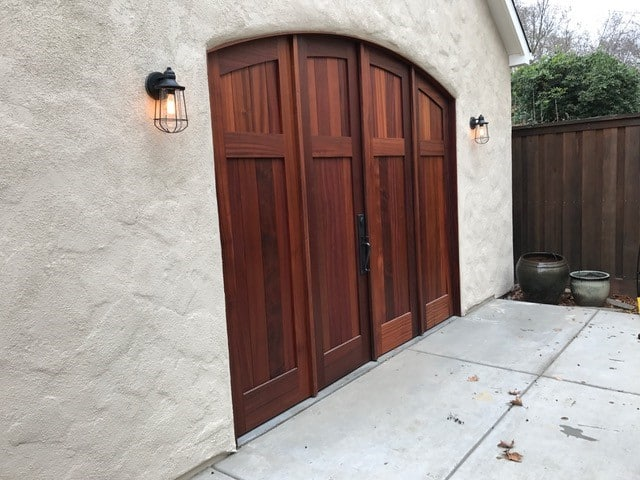 4. CL15N-A design – Four panel folding doors in Sapele Mahogany; Sacramento, CA