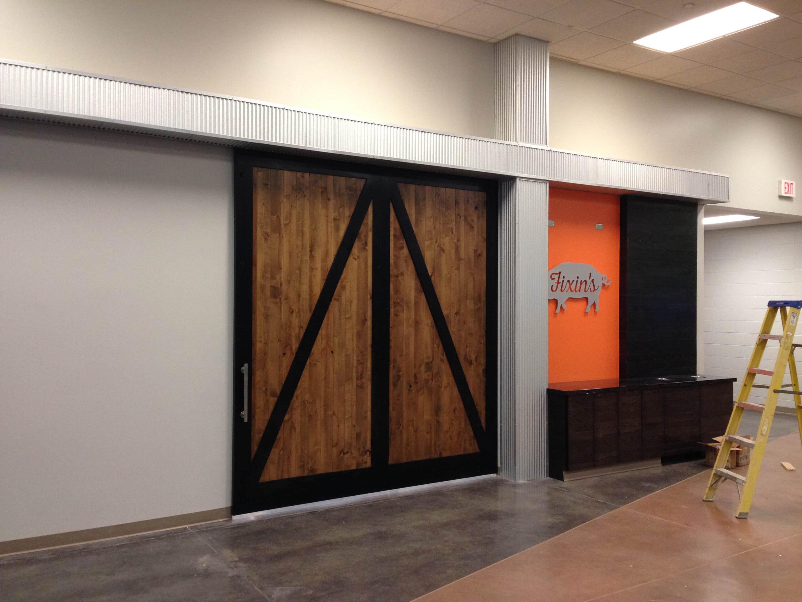 7. Back-to-back Z brace design – Single sliding door; Lancaster Event Center Lincoln, NE