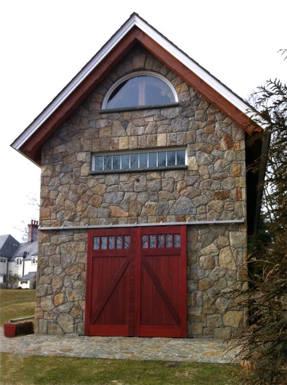 4. Sliding Barn Doors (Classic Z Brace in Mahogany) in New Canaan, CT
