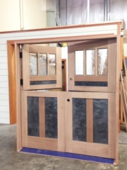 35. A Double Dutch Entry Door with Metal Panels