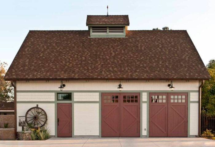 14. Founders Park Carriage House Doors at a Public Park in Anaheim, CA