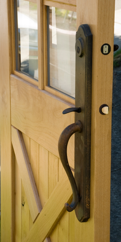 7. Closeup of the Equestrian Crossbuck Door