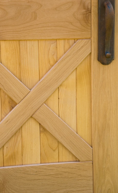 6. Closeup of the Equestrian Crossbuck Door