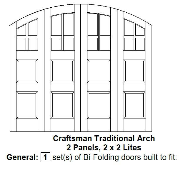 5. Bi-folding door drawing