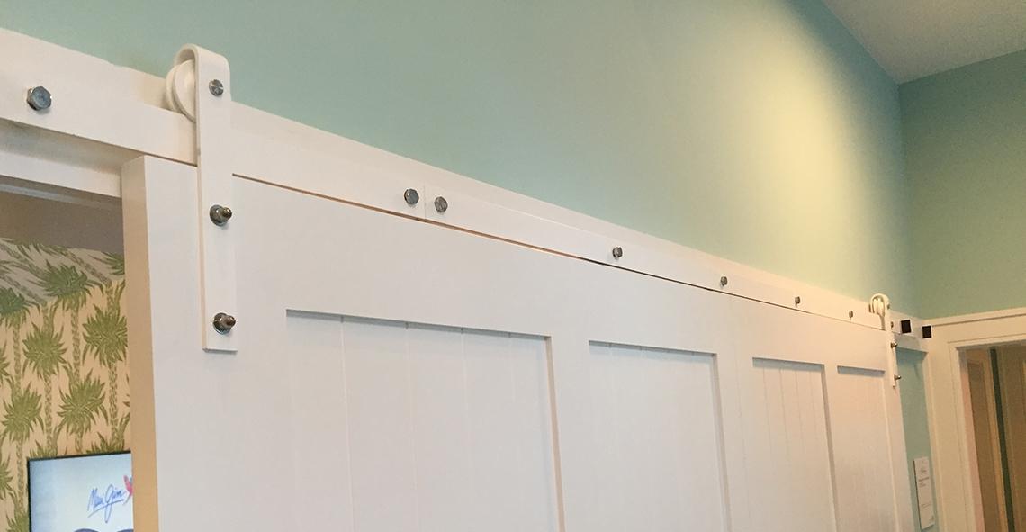 17. Custom Sliding Door in Coastal Living Magazine, Showhouse (Sag Harbor, NY)